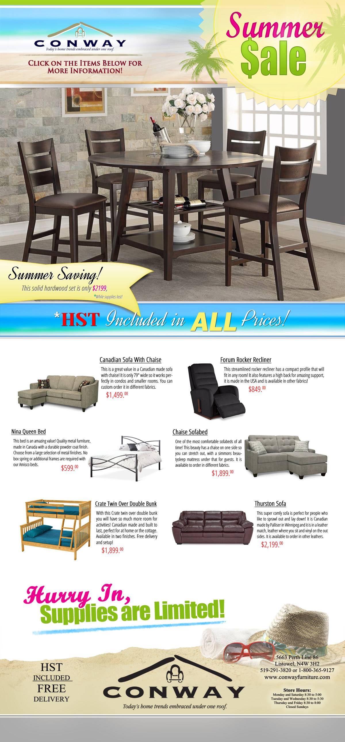 Everyone Is Always Looking For The Best Price And Great Deals On New  Furnishings For Their Bedroom, Living Room Or Dining Room, And At Conway  Furniture, ...