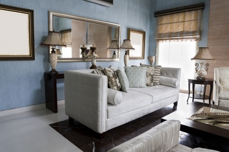 Living Room with Mirrors