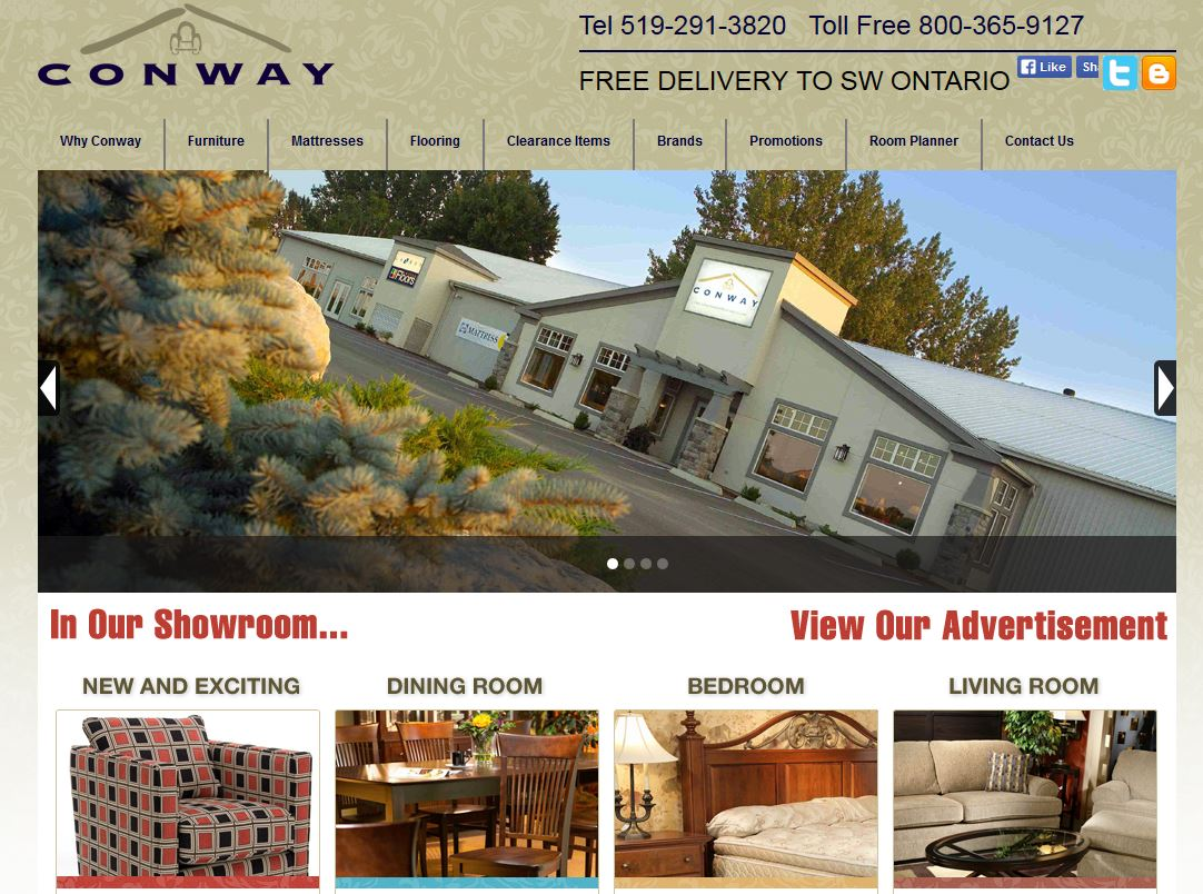 Conway Furniture Website