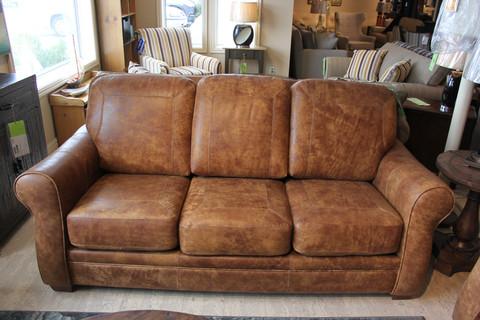 orangville leather sofa