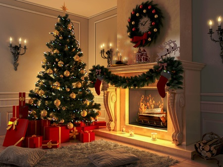 decorating  your living room for Christmas