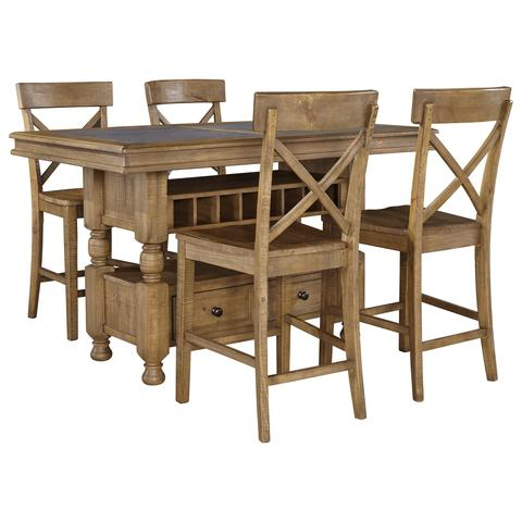 Trishley Counter Height Table with Storage